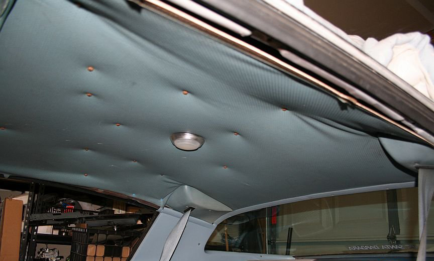 how to fix car roof upholstery